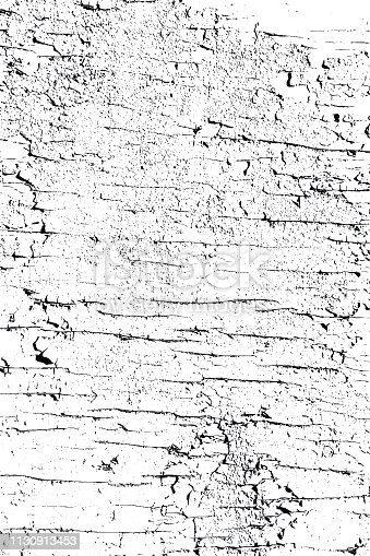 Black and white vector cracked old surface