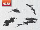 Cracks isolated. Illustration for your design. Vector illustration