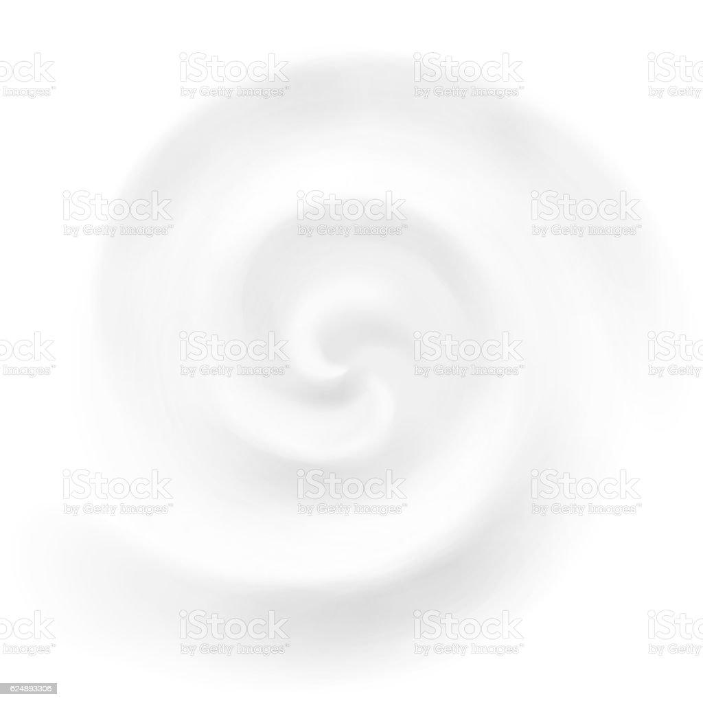 Vector cream, yogurt or milk swirl background vector art illustration