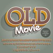 Vector creative Alphabet with text Old Movie