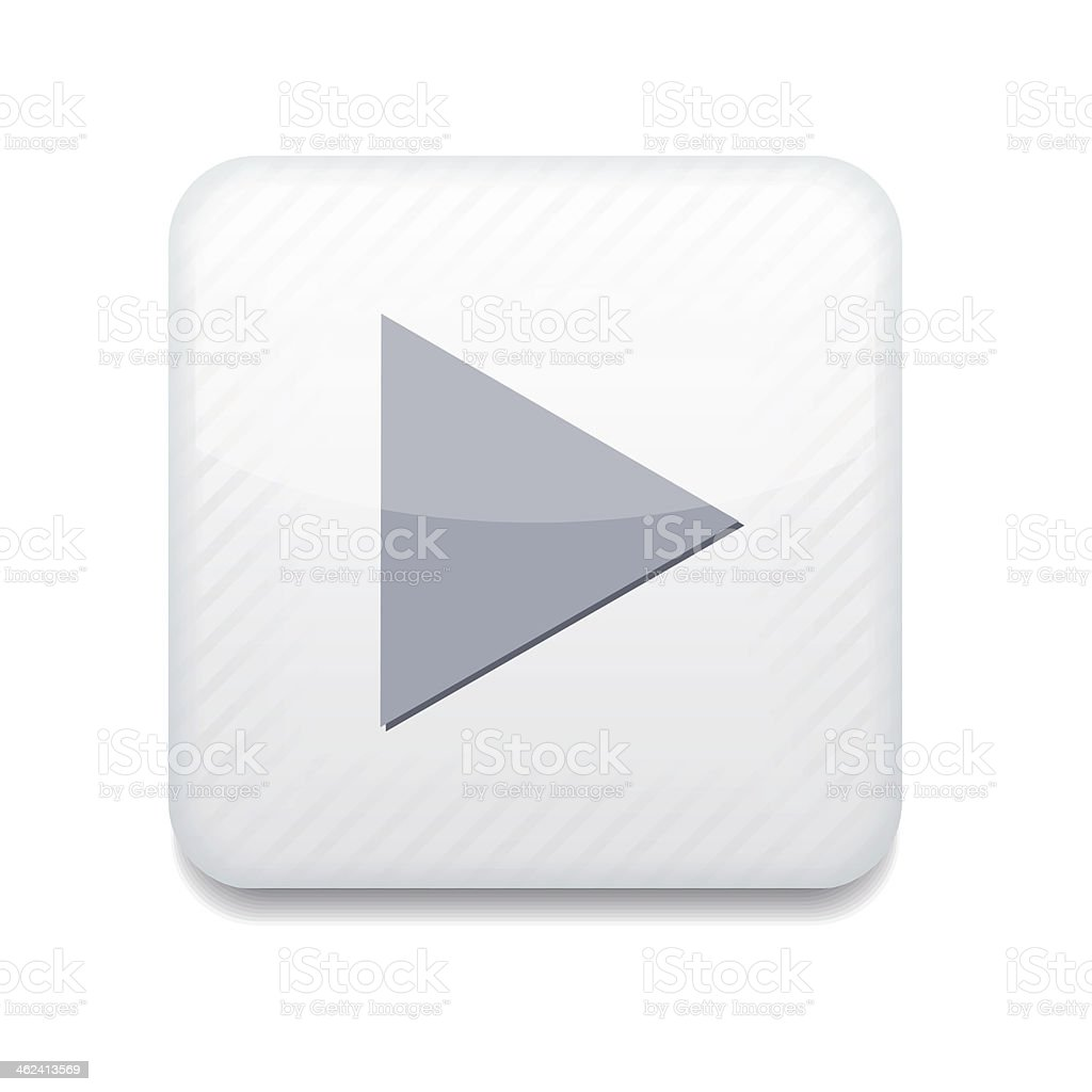 Vector creative app icon of play button with gray triangle vector art illustration