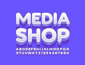 3D uppercase Font
