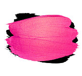 Vector creative pink banner. Brush stroke for you amazing design project. Watercolor texture paint stain