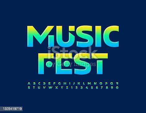 istock Vector creative poster Music Fest with Gradient color Font 1325419719