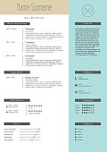 Vector creative resume template. Minimalist style. CV infographic elements