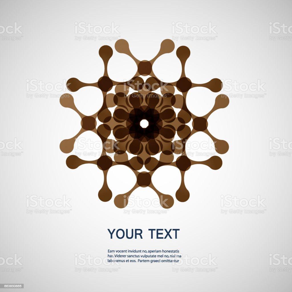 Vector creative technology and molecule icon eps10 vector art illustration