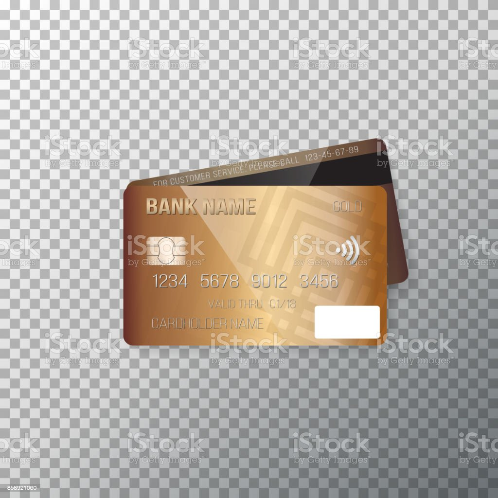 vector credit card photorealistic bank card isolated on transparent