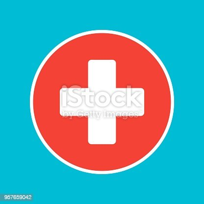 Vector Cross Medical Symbol Stock Vector Art More Images Of