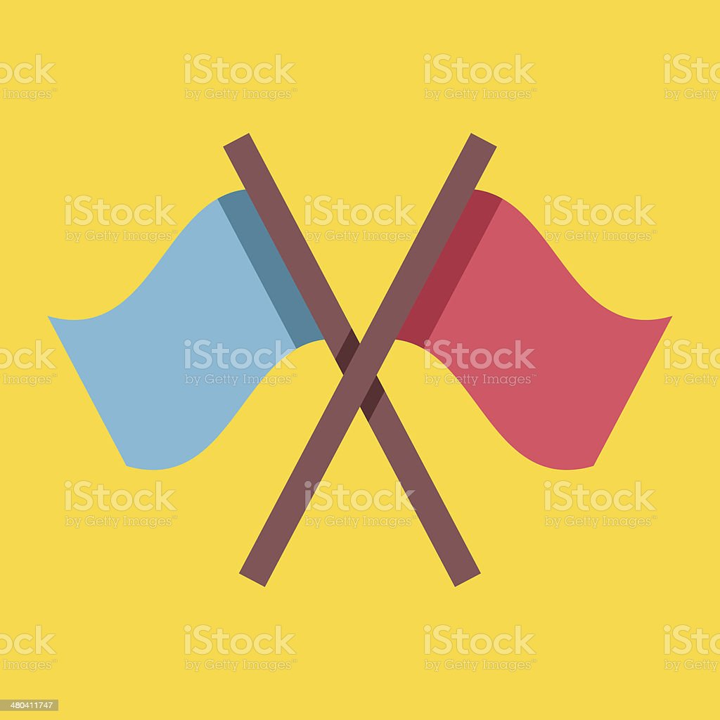 Vector Crossed Flags Icon royalty-free stock vector art