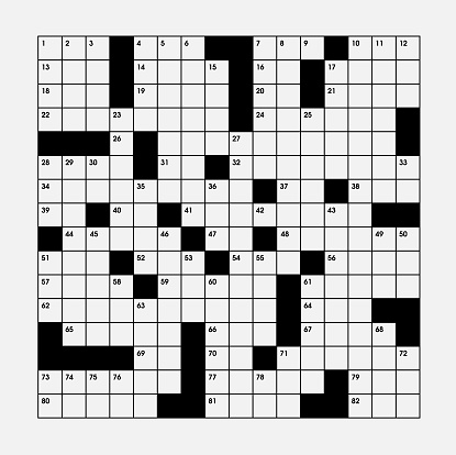 Vector crossword puzzle directly above