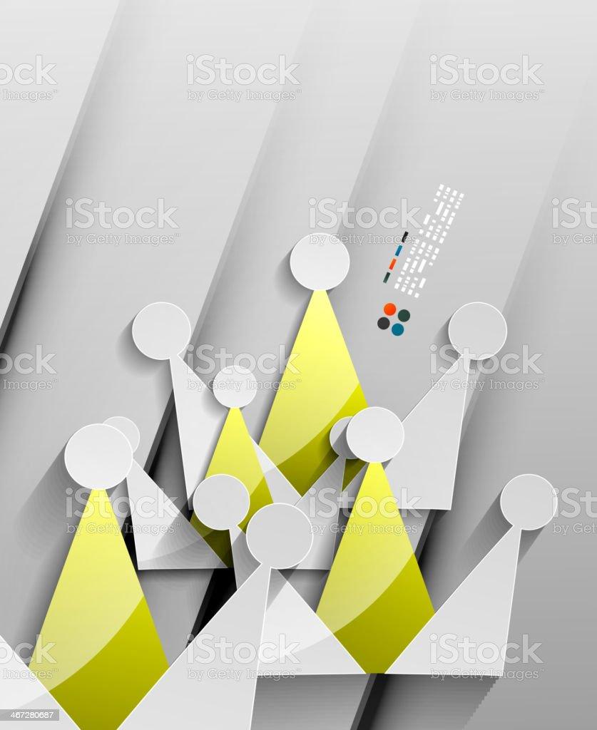 Vector crown 3d paper design royalty-free stock vector art