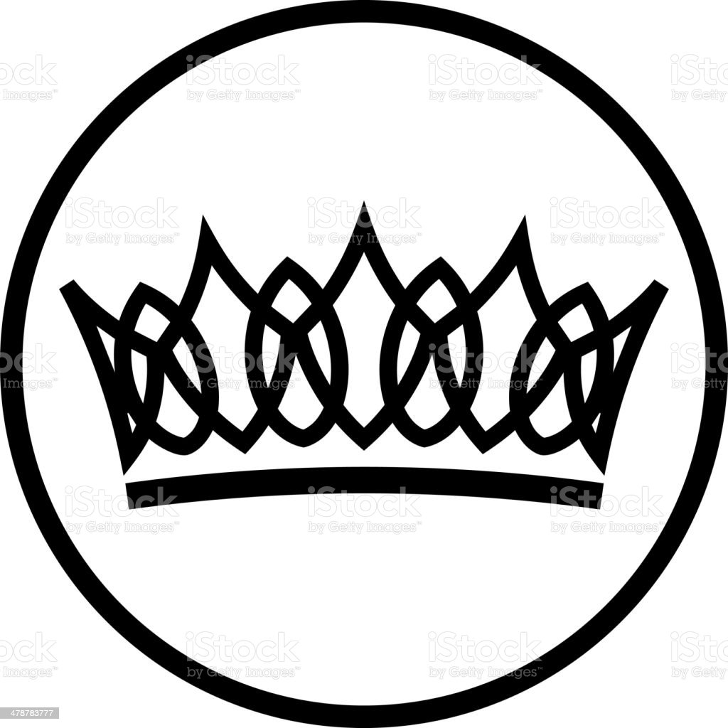 Vector crown vector art illustration