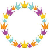 Vector Crowns Wreath