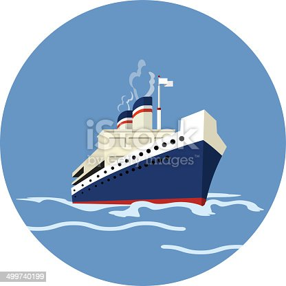 Vector Cruise Ship Flat Icon Stock Vector Art Amp More