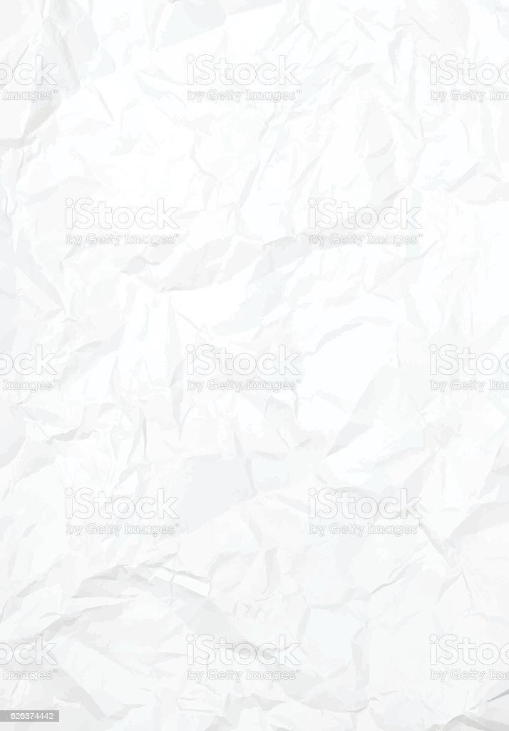 Vector Crumbled Paper Texture - ilustração de arte em vetor