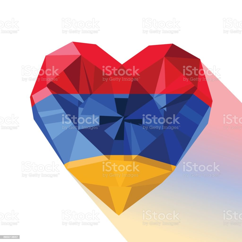 Vector crystal gem jewelry Armenian heart with the flag of the Armenia royalty-free vector crystal gem jewelry armenian heart with the flag of the armenia stock vector art & more images of armenia - country