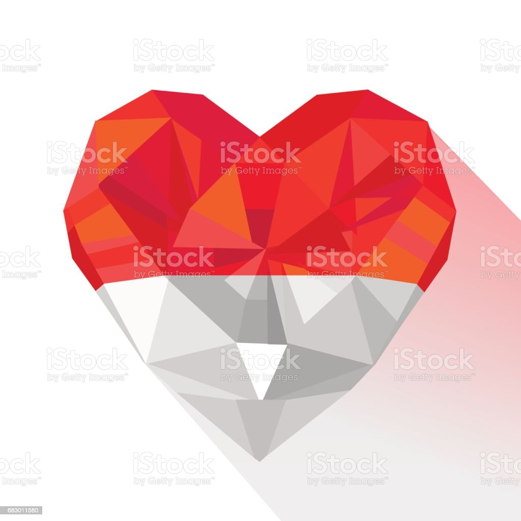 Vector crystal gem jewelry heart of  the Principality of Monaco. royalty-free vector crystal gem jewelry heart of the principality of monaco stock vector art & more images of city