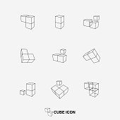 Vector cube icon collection