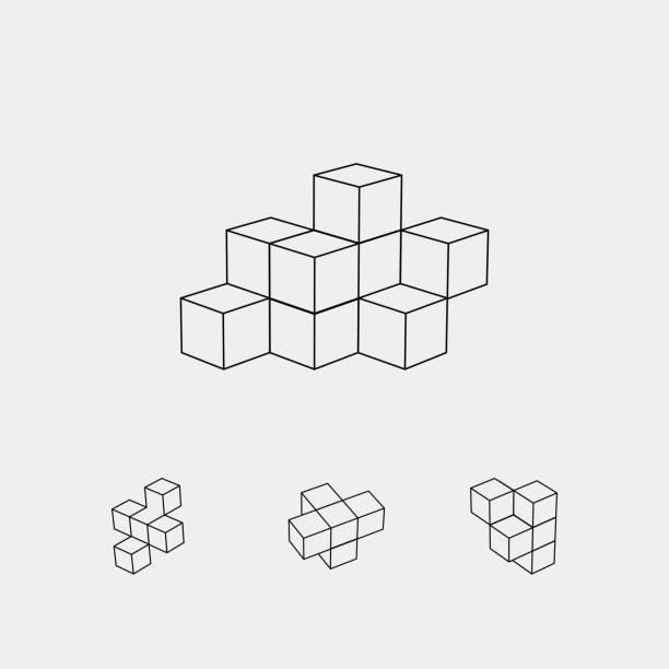 Vector cube pattern Vector cube pattern cube shape stock illustrations