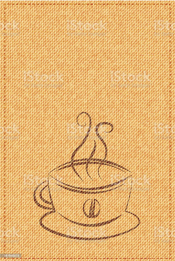 vector cup of coffee on a background texture royalty-free stock vector art
