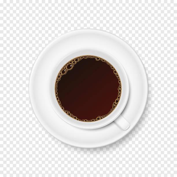 Vektor Tasse Kaffee auf transparenten Hintergrund – Vektorgrafik
