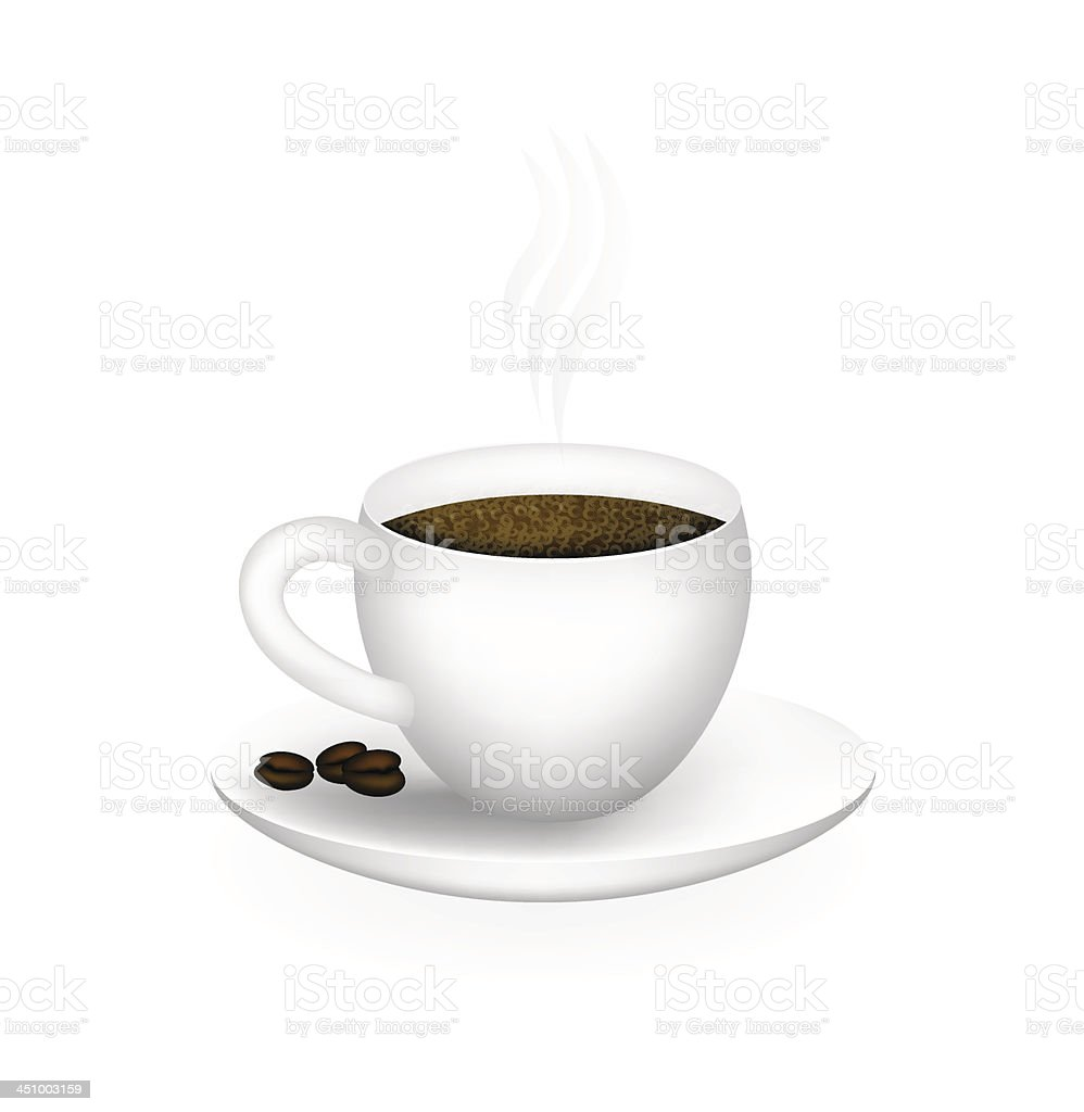 Vector Cup Of coffee royalty-free vector cup of coffee stock vector art & more images of black color