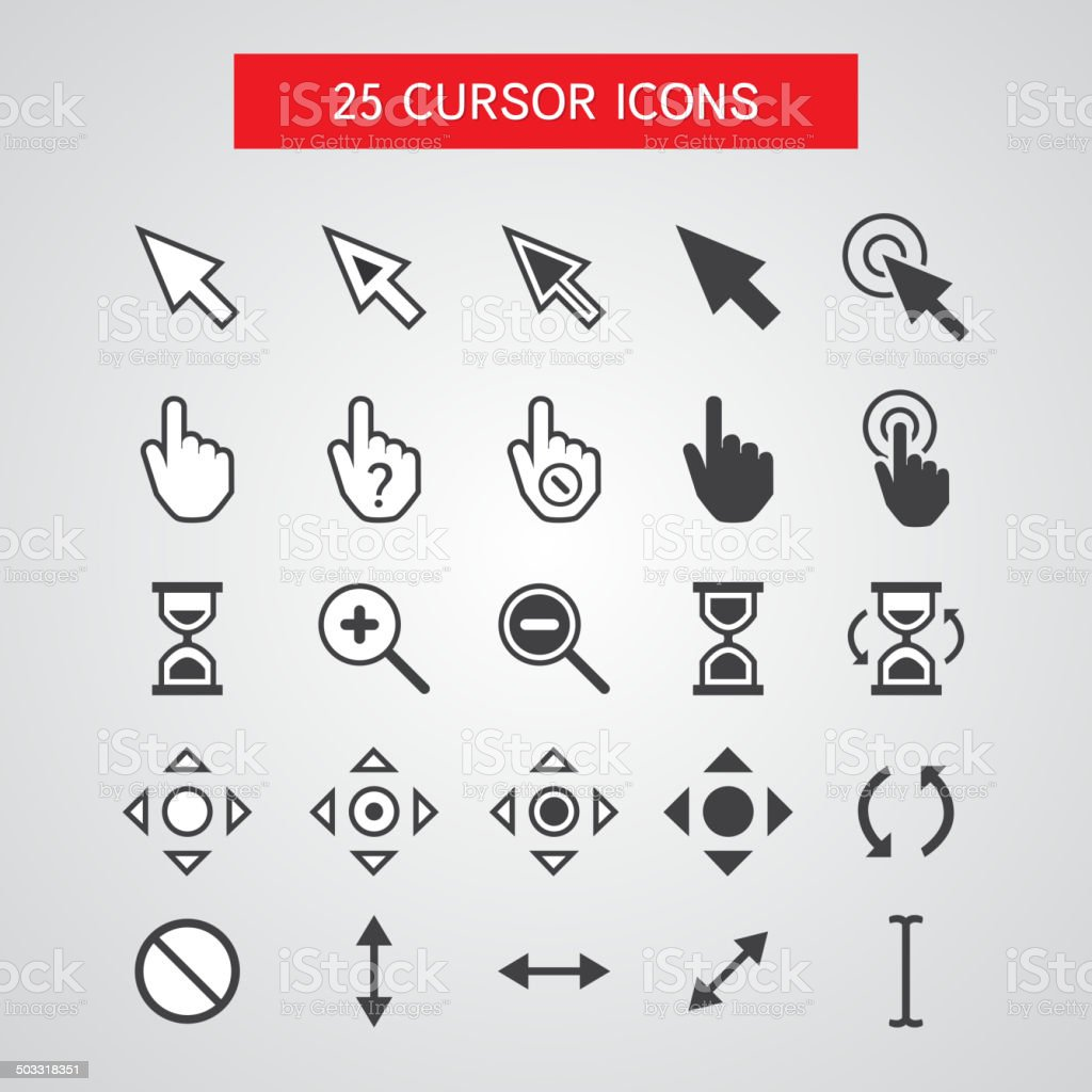 Vector Cursor Icons Set vector art illustration