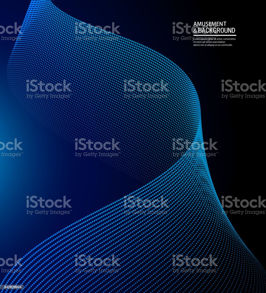 Vector curve particle background vector art illustration