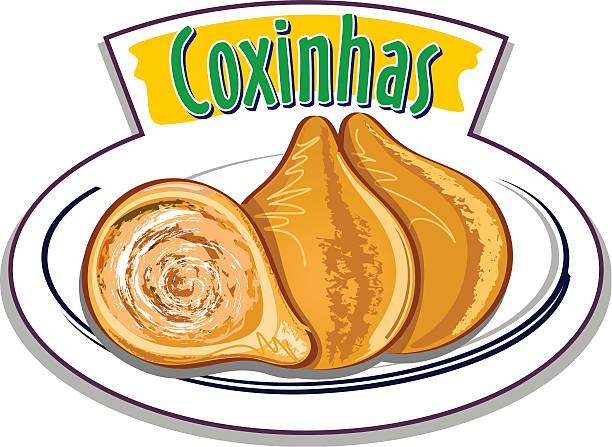 ilustrações, clipart, desenhos animados e ícones de coxinhas vetor - comida salgada