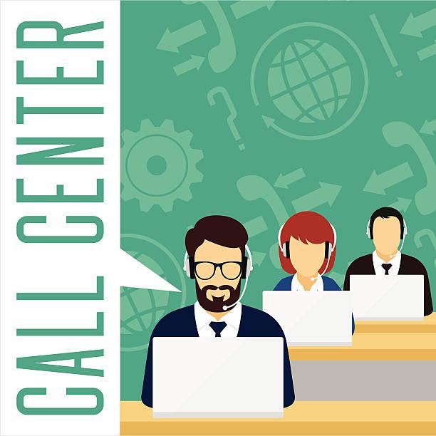 Vector de concepto de servicio al cliente. Centro de atención telefónica. - ilustración de arte vectorial