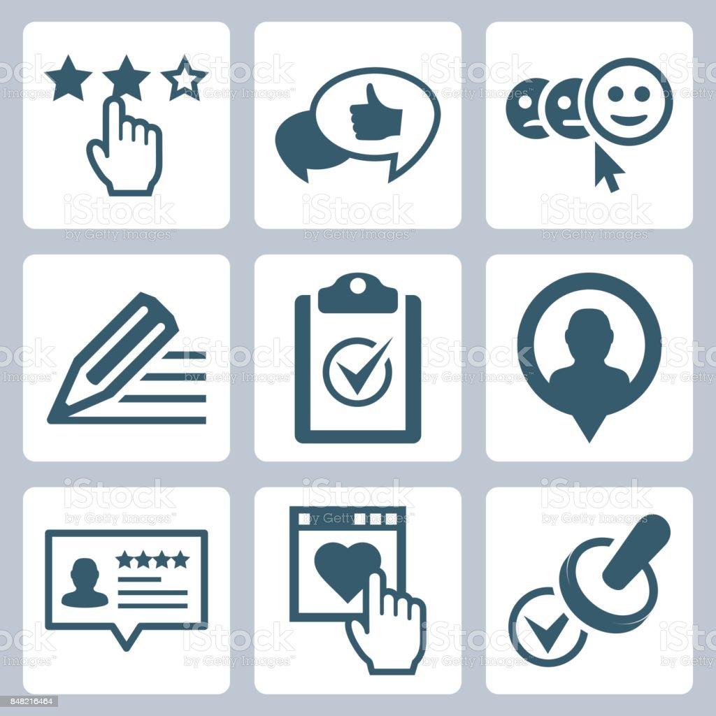 Vector customer testimonials icon set royalty-free vector customer testimonials icon set stock illustration - download image now