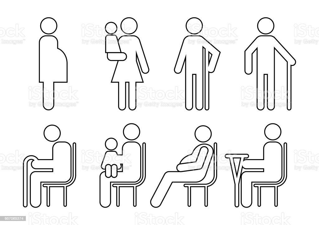 Iconos de los clientes de vector - ilustración de arte vectorial