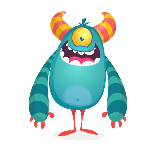Vektor niedlichen Cartoon Alien. Halloween Monster Charakter – Vektorgrafik