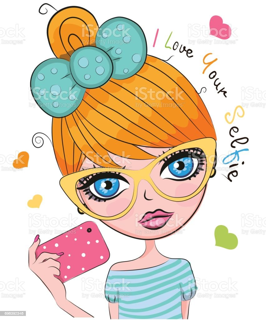 Vector Cute Cartoon Girl Stock Vector Art More Images Of Adult