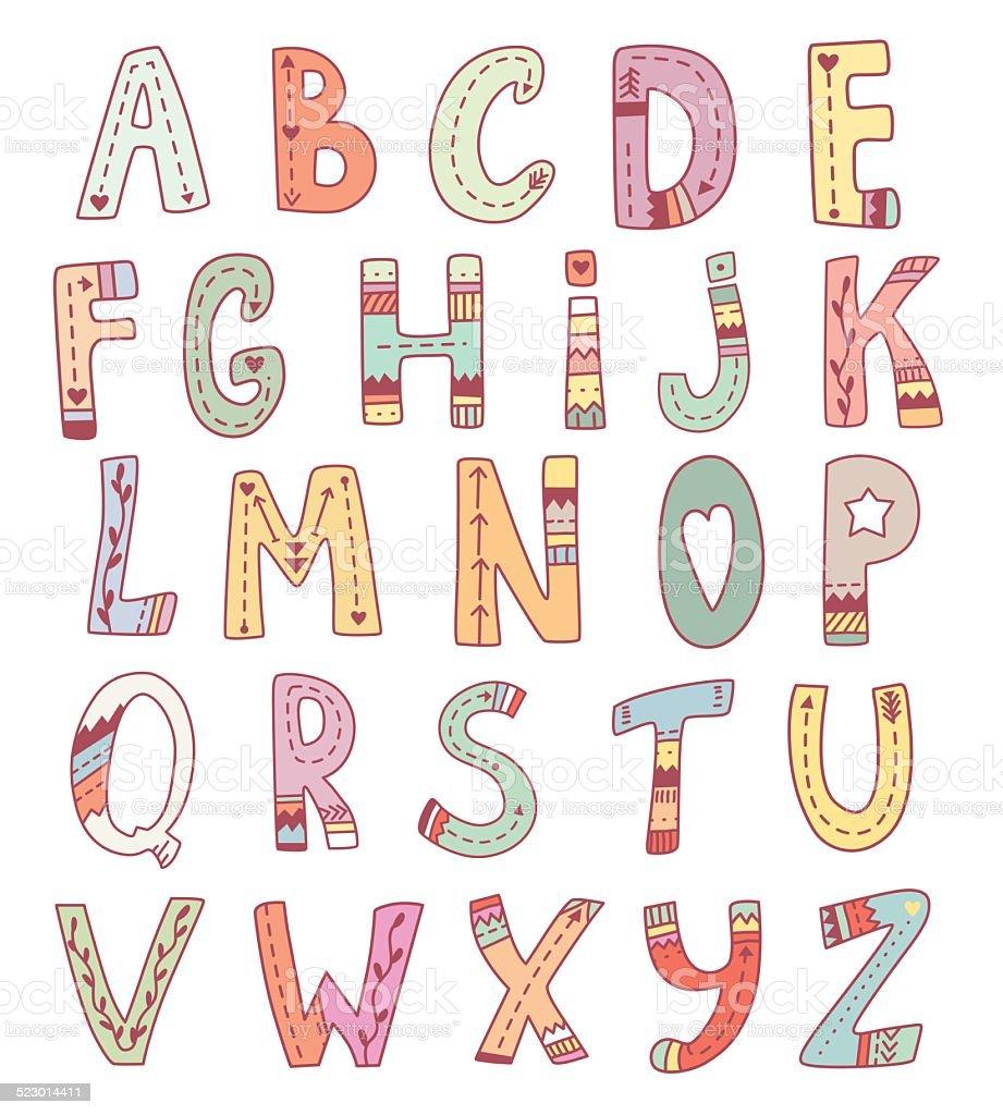 英語アルファベットベクトルかわいい アルファベットのベクターアート