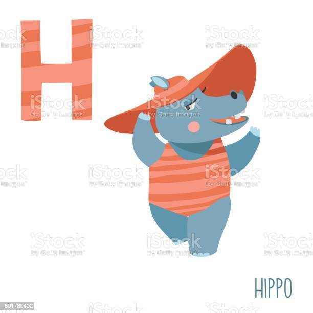 Vector cute kids animal alphabet letter h for the hippo vector id801780402?b=1&k=6&m=801780402&s=612x612&h=7vvq0ogbahybj2xiuveqm p9mshyqll4bmdvpods624=