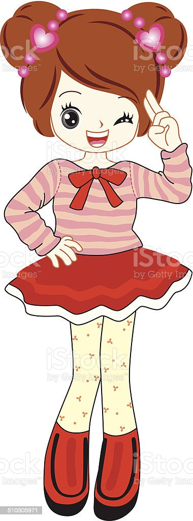 026862ef7 Vector Cute Little Anime Girl In Red Sweater Stock Vector Art   More ...