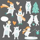 Vector cute mascot bear