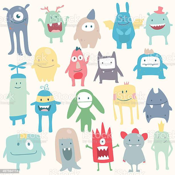 Vector cute monsters set collection vector id497564114?b=1&k=6&m=497564114&s=612x612&h=zabonxv344w6ak9a7llpyuuq3ta719bac9podb2xqvc=