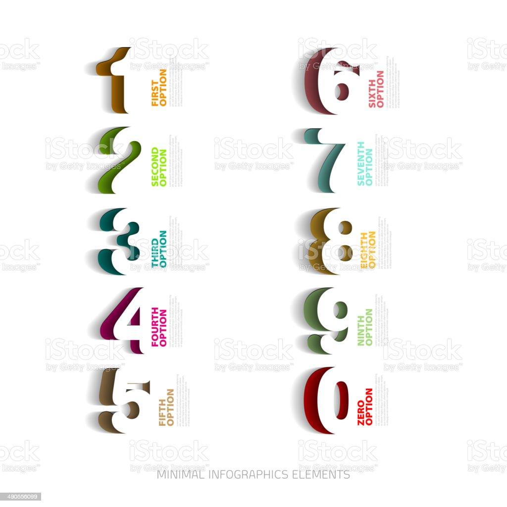 Vektorcutoutvorlagen Für Infografiken Nummer Stock Vektor Art und ...