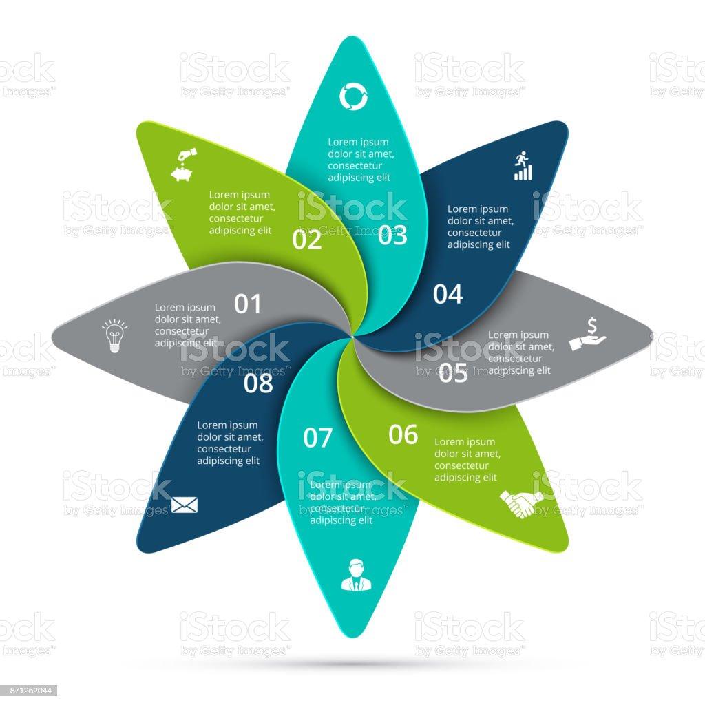 Vektorzyklus Infografik Vorlage Für Diagramm Grafik Präsentation Und ...
