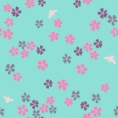 Vector daisies seamless pattern. Summer ornament made of wild flowers.