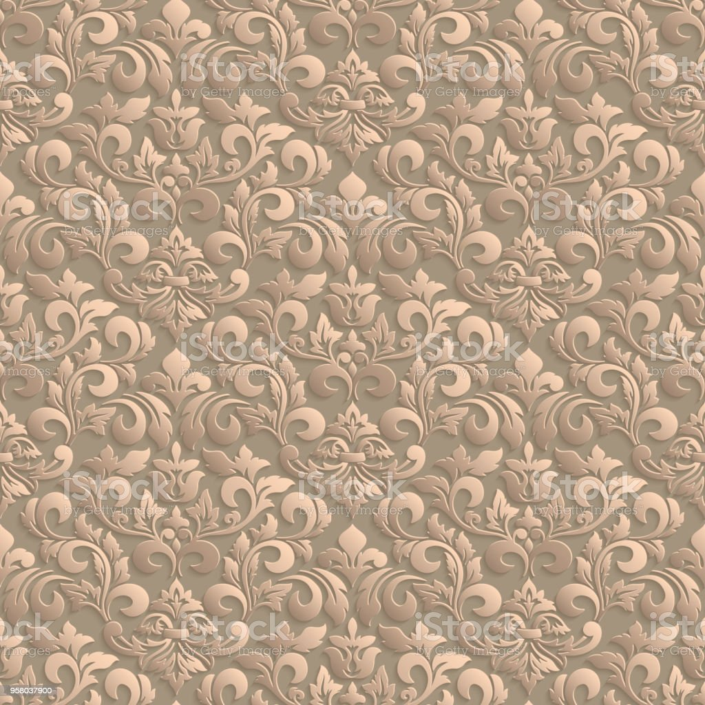 Vector Damask Seamless Pattern Background Elegant Luxury Texture For