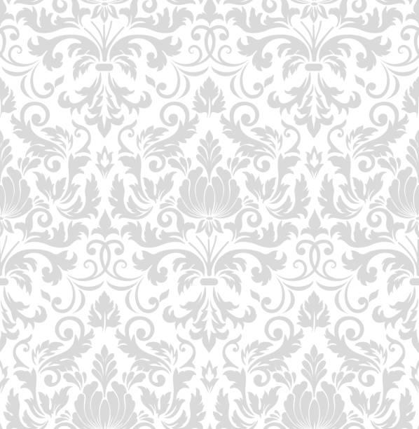ilustrações, clipart, desenhos animados e ícones de elemento de padrão sem emenda do vetor do damasco. ornamento de damasco à moda antiga de luxo clássico, royal victorian textura sem costura para papéis de parede, têxteis, envolvimento. modelo barroco floral requintado. - antiguidades