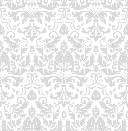 向量錦緞無縫圖案元件古典奢華的老式錦緞裝飾 皇家維多利亞風格的無縫紋理牆紙 紡織品 包裝精緻的花巴羅克範本向量圖形及更多具有特定質地圖片