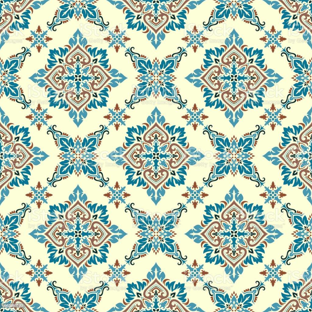 Vector damask seamless pattern - Grafika wektorowa royalty-free (Adamaszek)