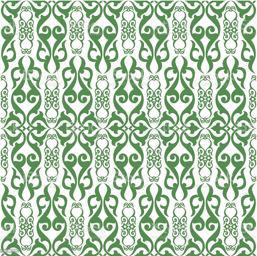 vector damask SEAMLESS pattern royalty-free stock vector art