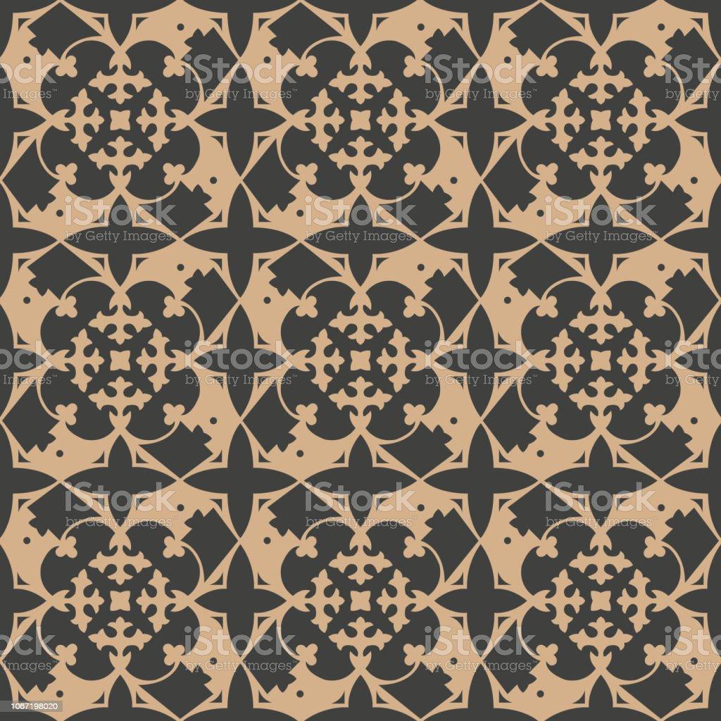 Caleidoscopio de flor de Damasco vector transparente patrón retro fondo jardín botánico de la planta - ilustración de arte vectorial