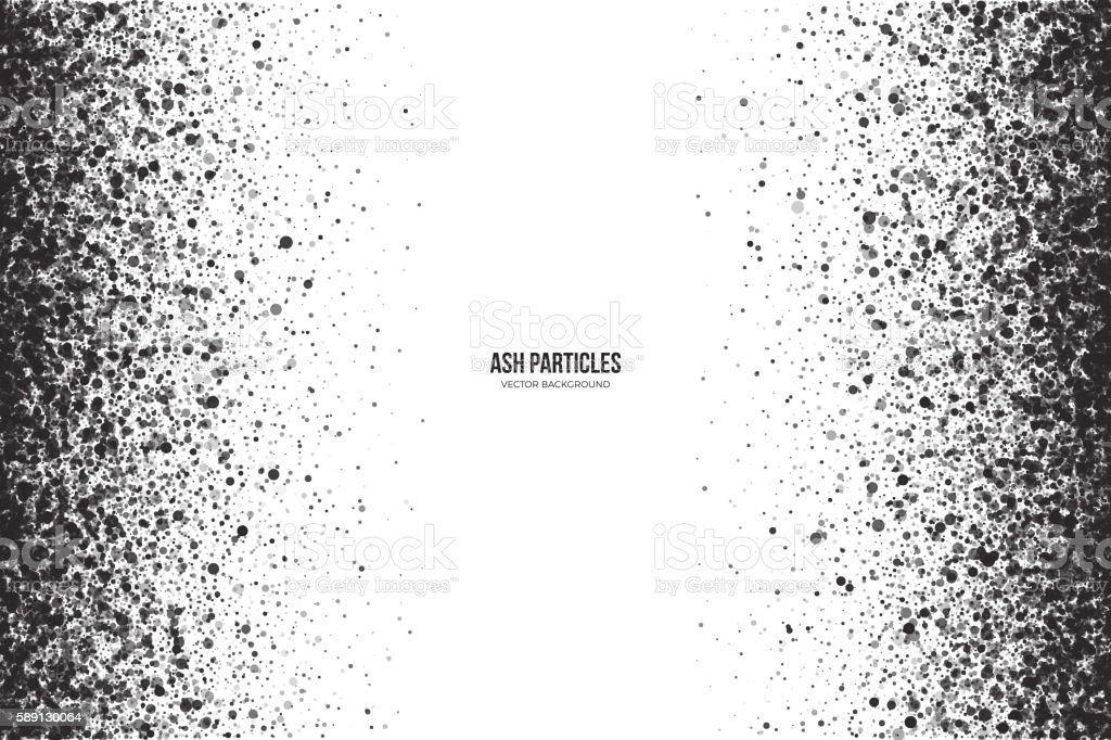 Vector Dark Gray Ash Particles on White Background