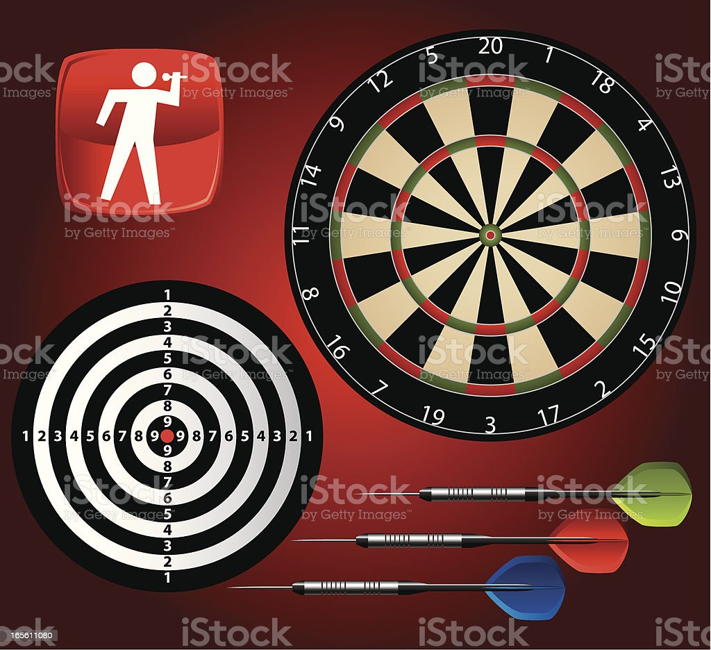 Vector Darts Collection royalty-free vector darts collection stock vector art & more images of competition